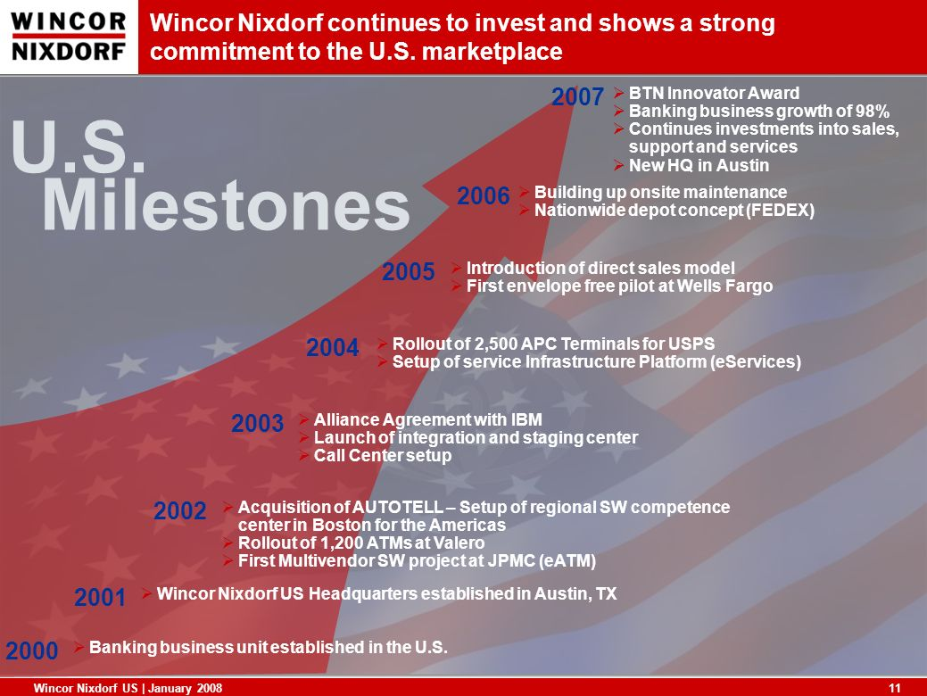 Wincor Nixdorf continues to invest and shows a strong commitment to the U.S. marketplace