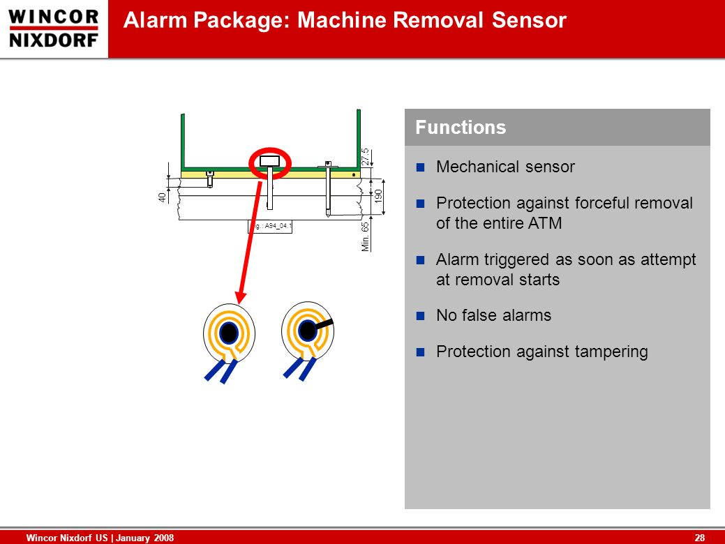 Alarm Package: Machine Removal Sensor