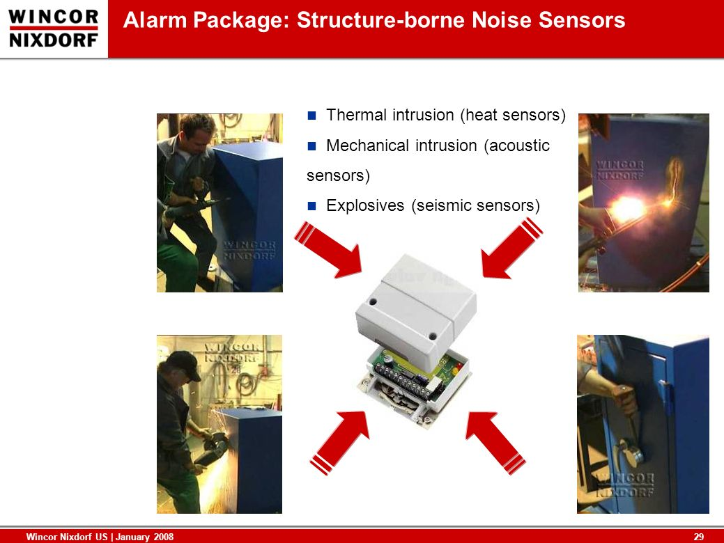 Alarm Package: Structure-borne Noise Sensors