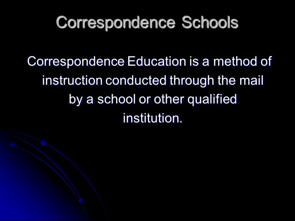 Correspondence Schools
