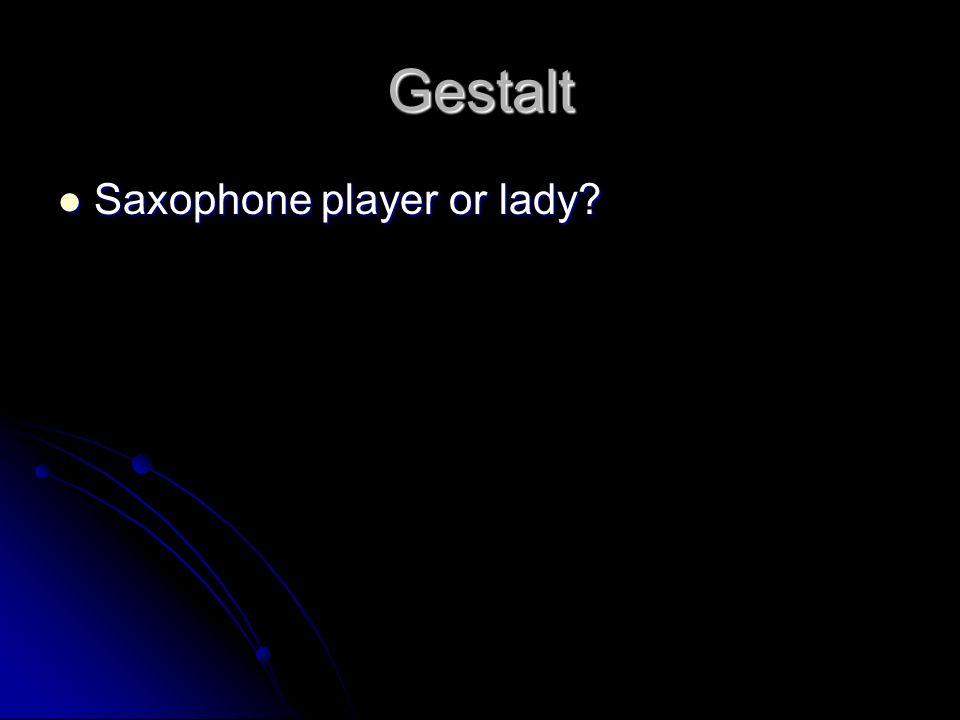 Gestalt Saxophone player or lady