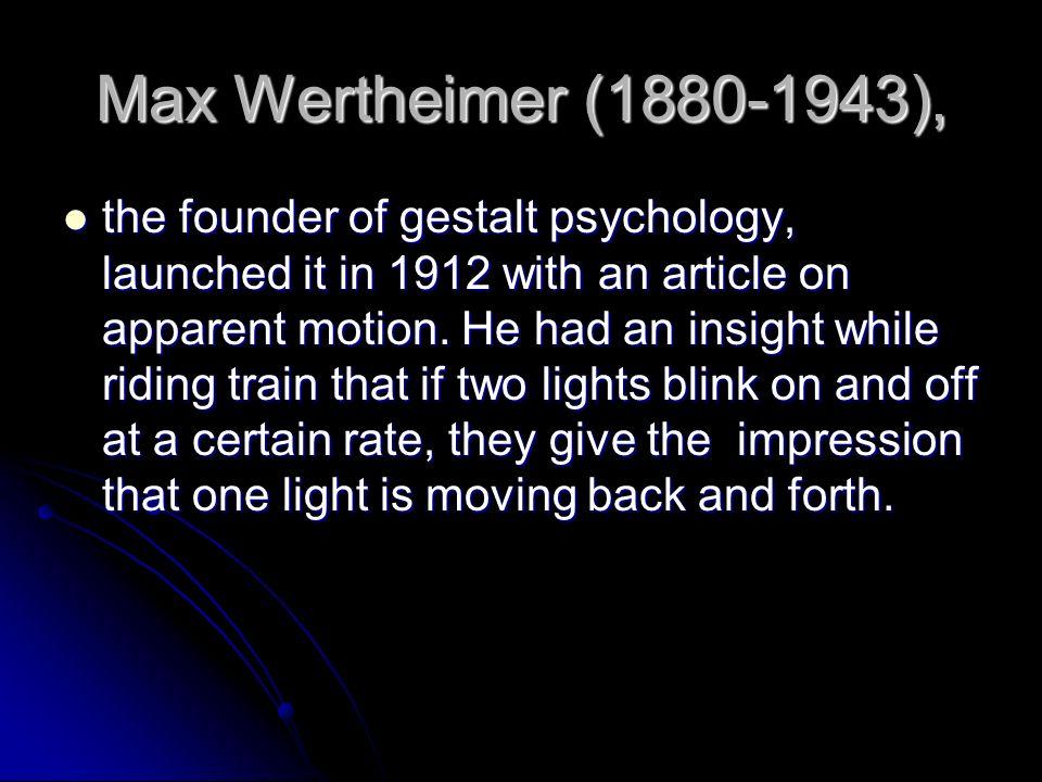 Max Wertheimer (1880-1943),
