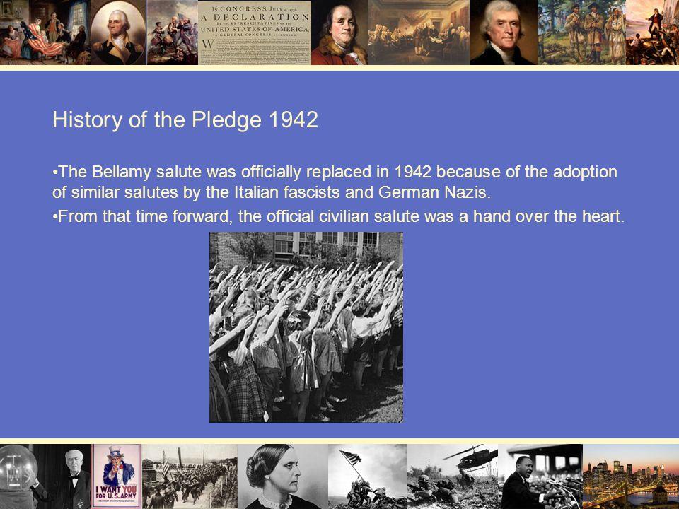 History of the Pledge 1942