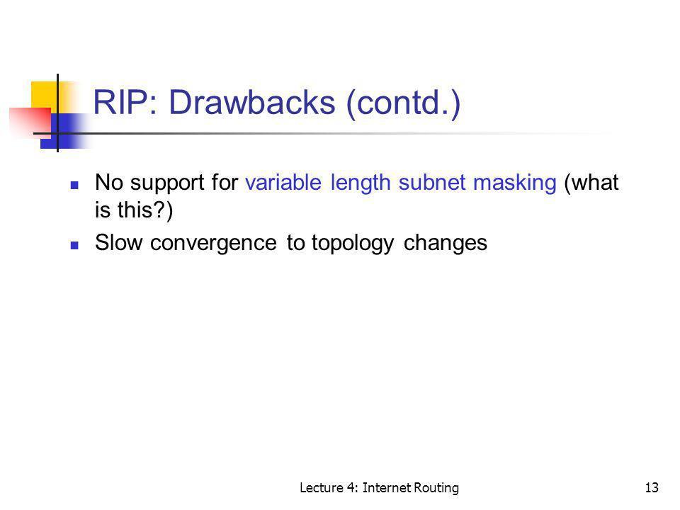 RIP: Drawbacks (contd.)