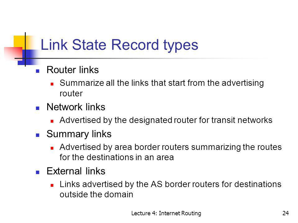 Link State Record types