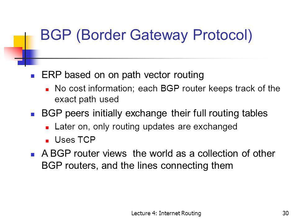 BGP (Border Gateway Protocol)