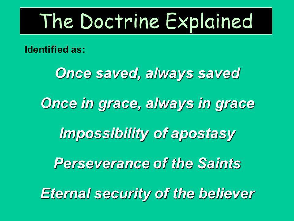 The Doctrine Explained