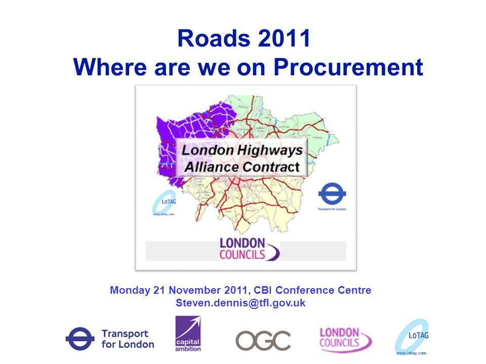 Roads 2011 Where are we on Procurement