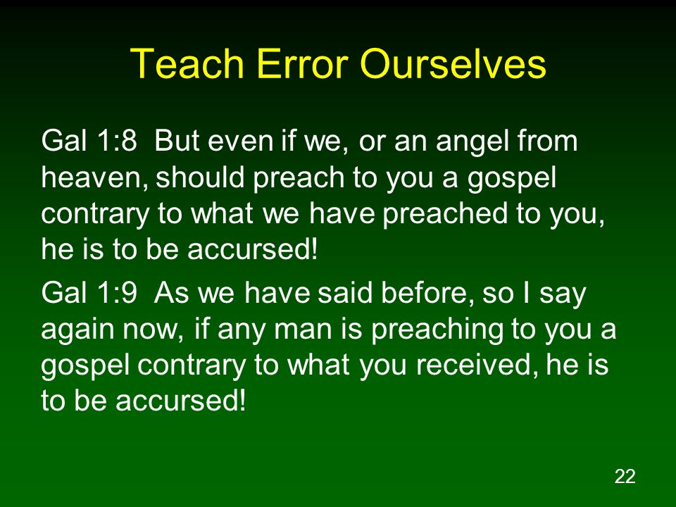 Teach Error Ourselves