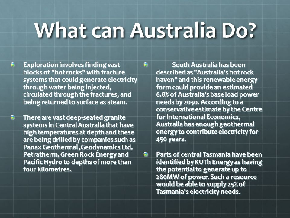 What can Australia Do