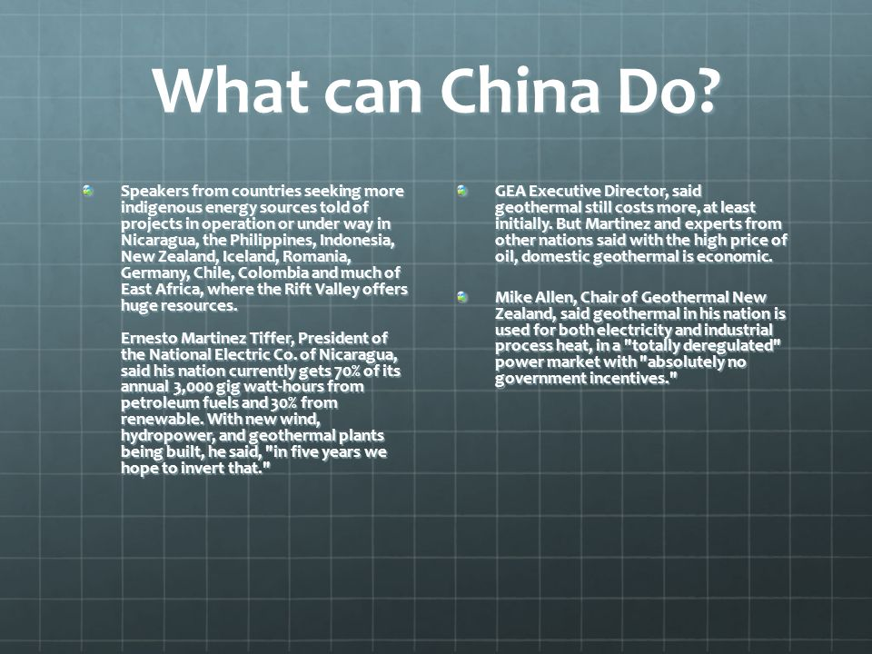 What can China Do