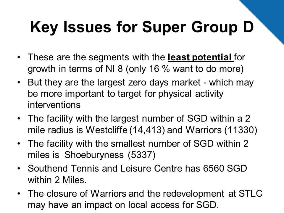 Key Issues for Super Group D