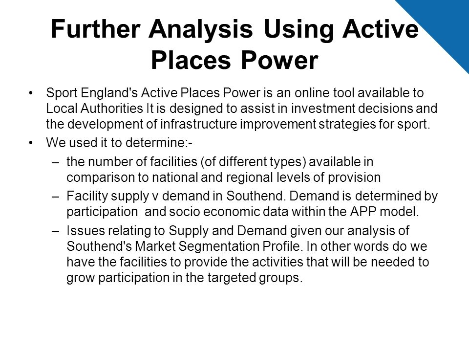 Further Analysis Using Active Places Power