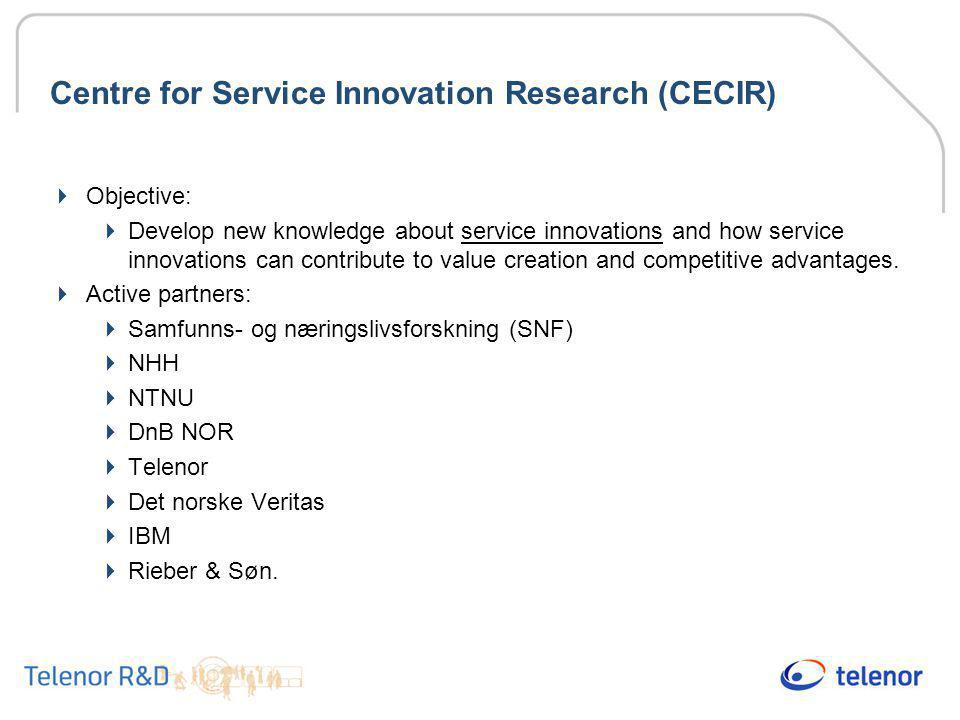 Centre for Service Innovation Research (CECIR)