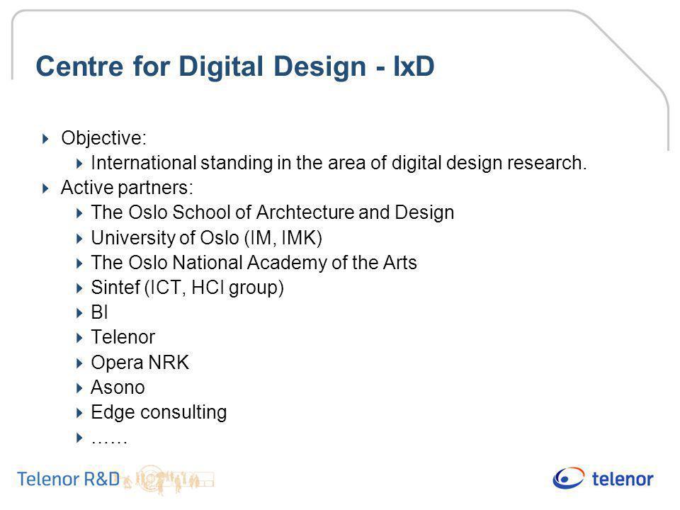 Centre for Digital Design - IxD