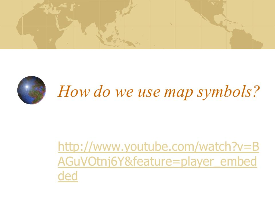 How do we use map symbols