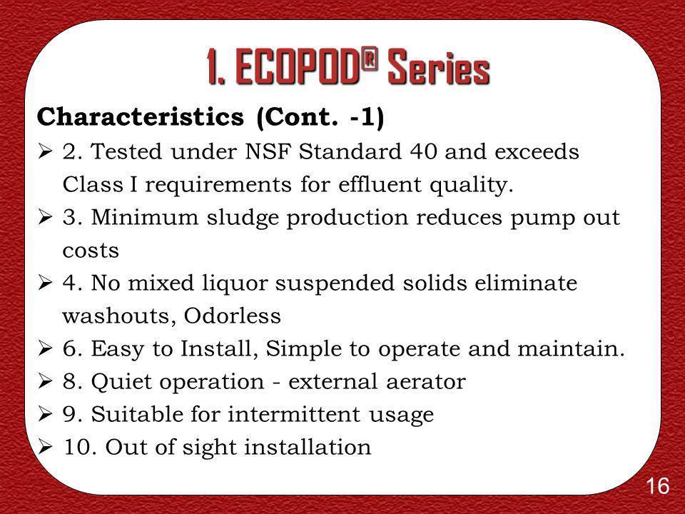 1. ECOPOD® Series Characteristics (Cont. -1)