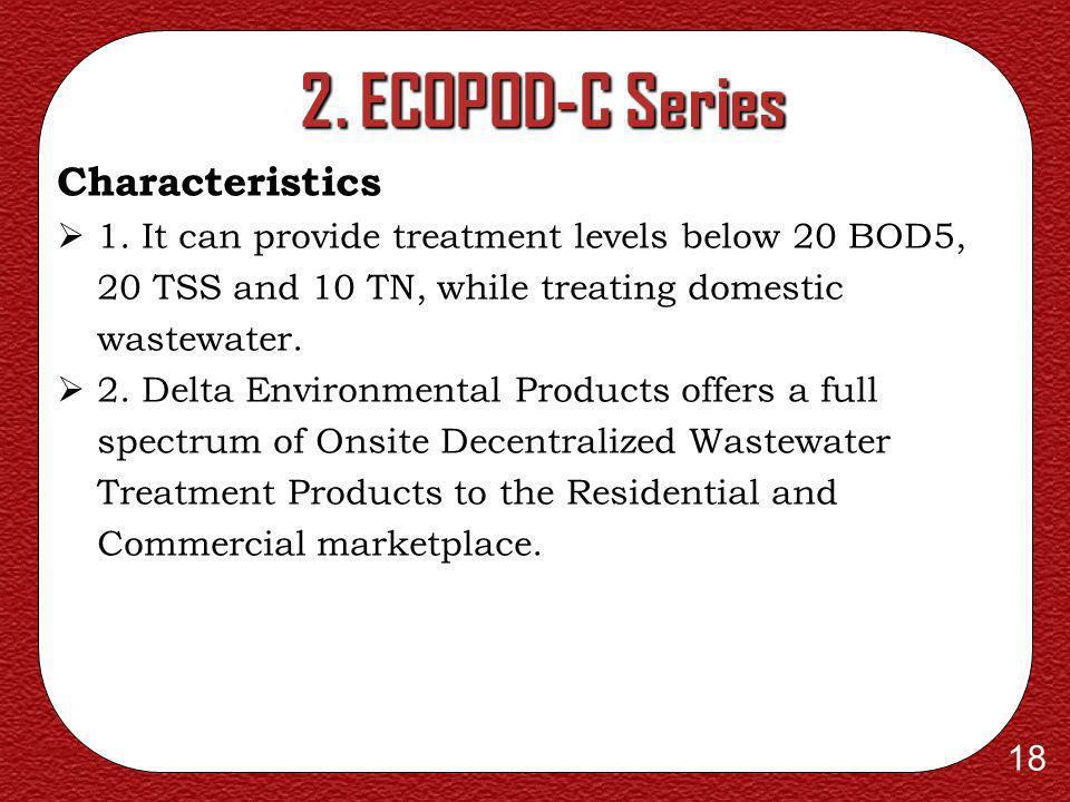 2. ECOPOD-C Series Characteristics