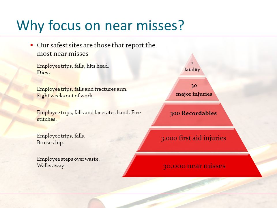 Why focus on near misses