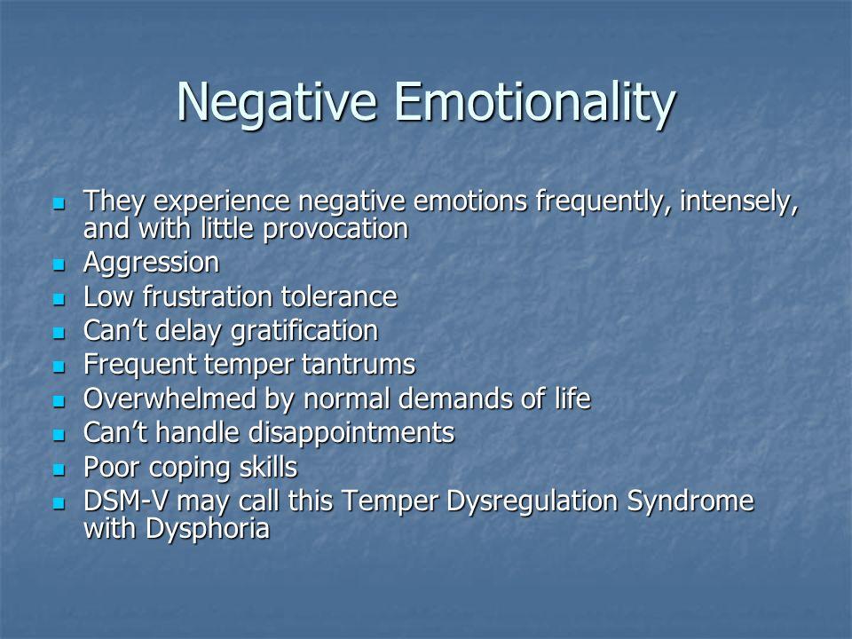 Negative Emotionality