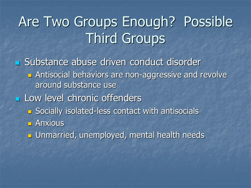 Are Two Groups Enough Possible Third Groups