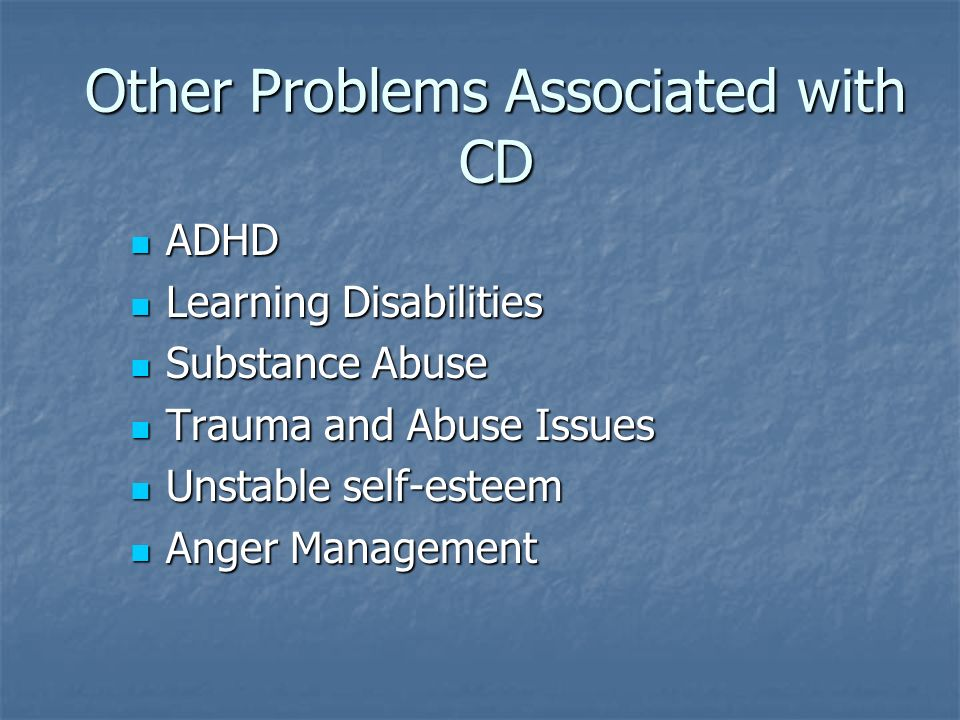 Other Problems Associated with CD