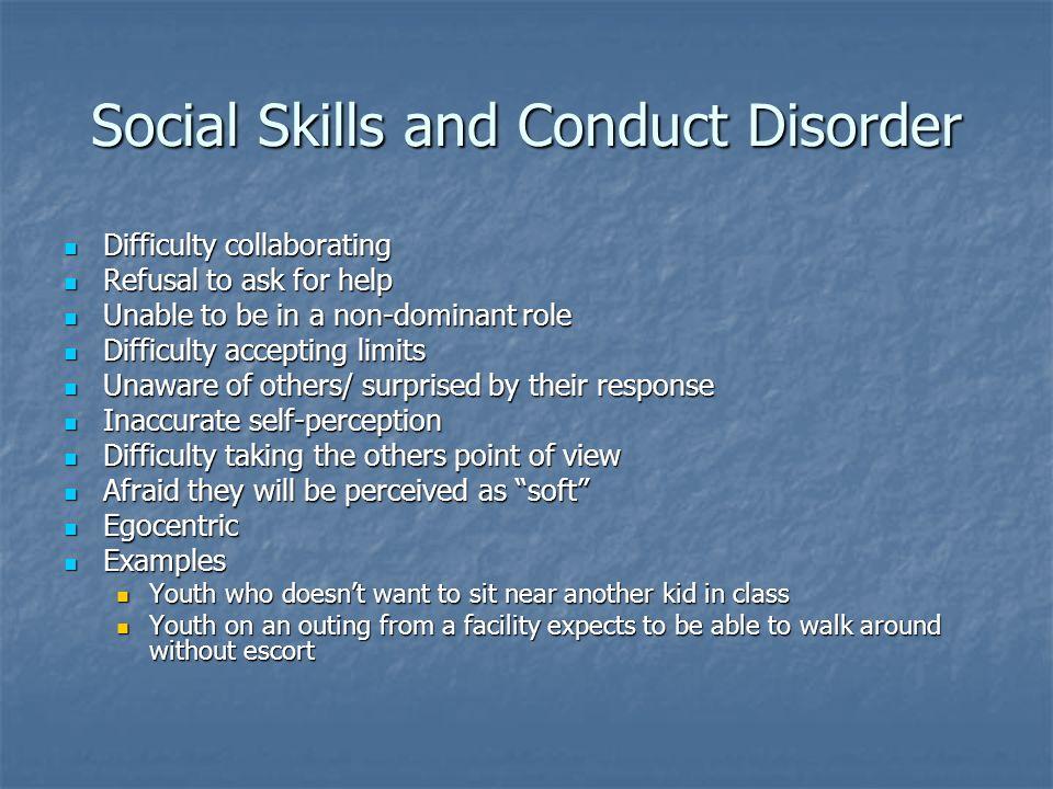 Social Skills and Conduct Disorder