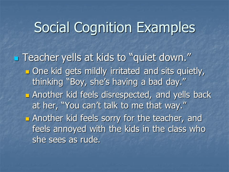 Social Cognition Examples