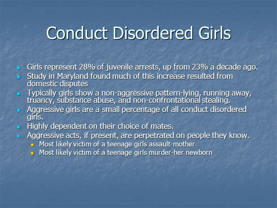 Conduct Disordered Girls