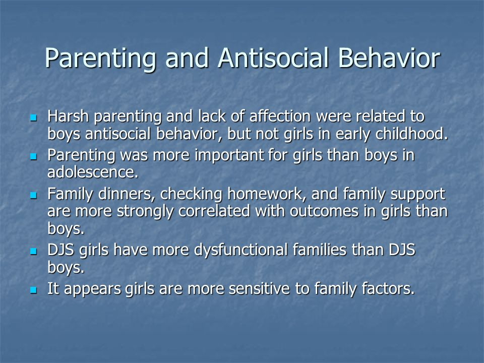 Parenting and Antisocial Behavior