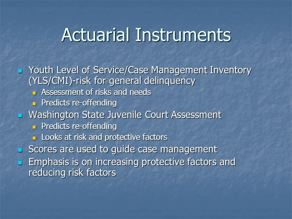Actuarial Instruments