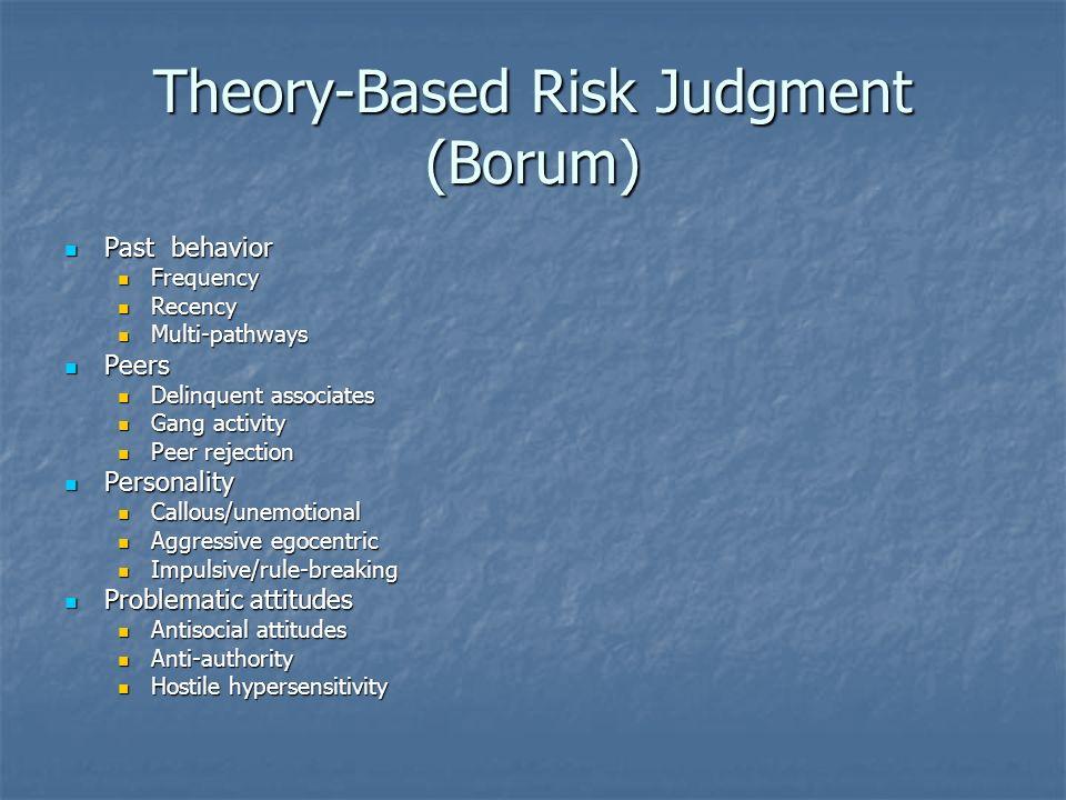 Theory-Based Risk Judgment (Borum)