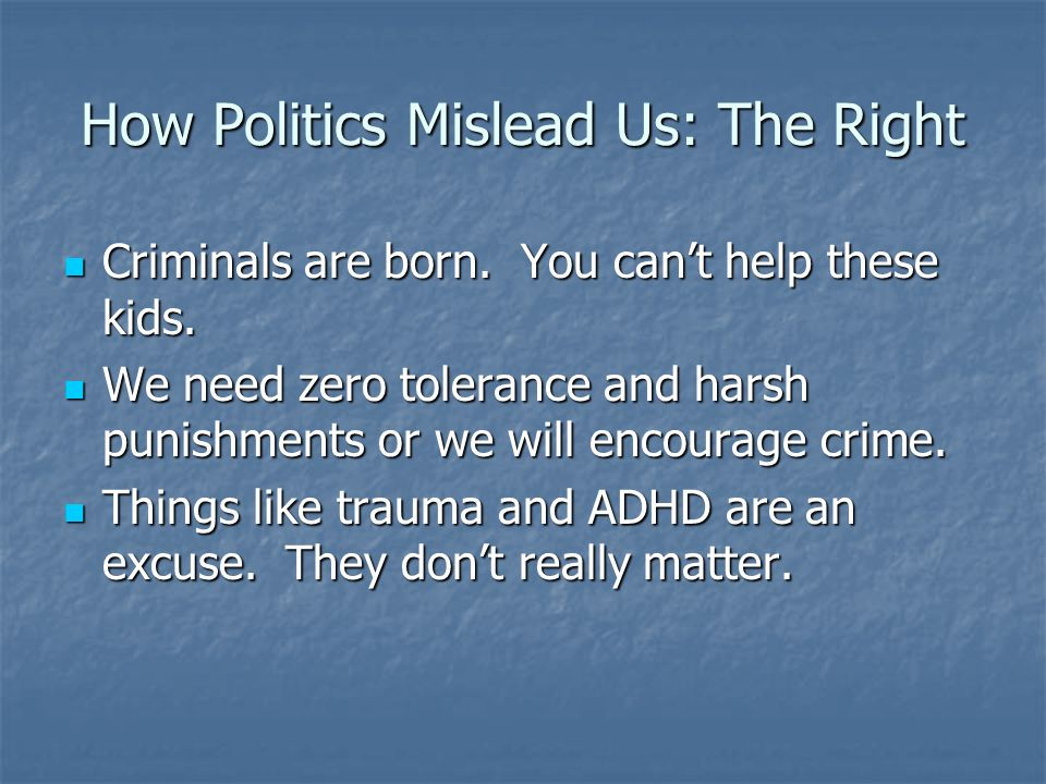 How Politics Mislead Us: The Right