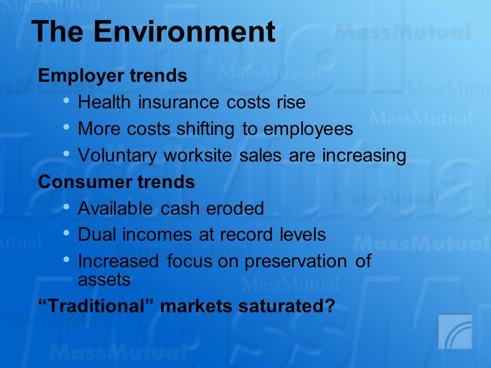 The Environment Employer trends Health insurance costs rise