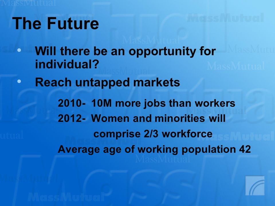 The Future Will there be an opportunity for individual