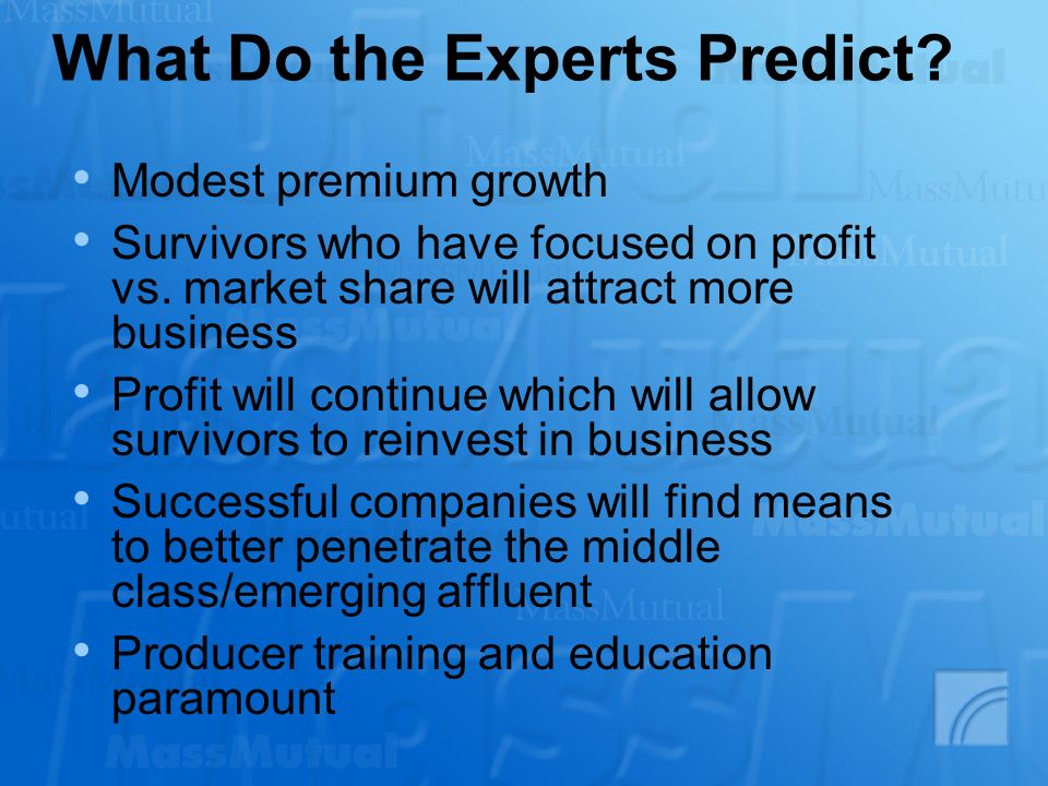 What Do the Experts Predict