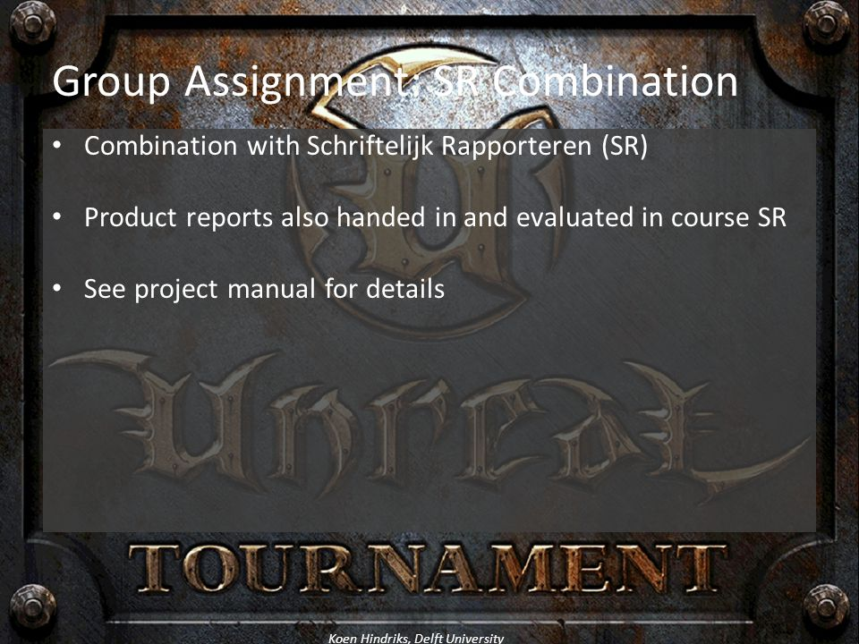 Group Assignment: SR Combination
