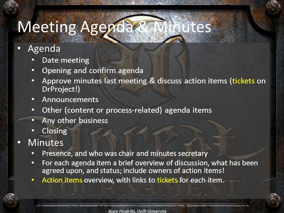 Meeting Agenda & Minutes