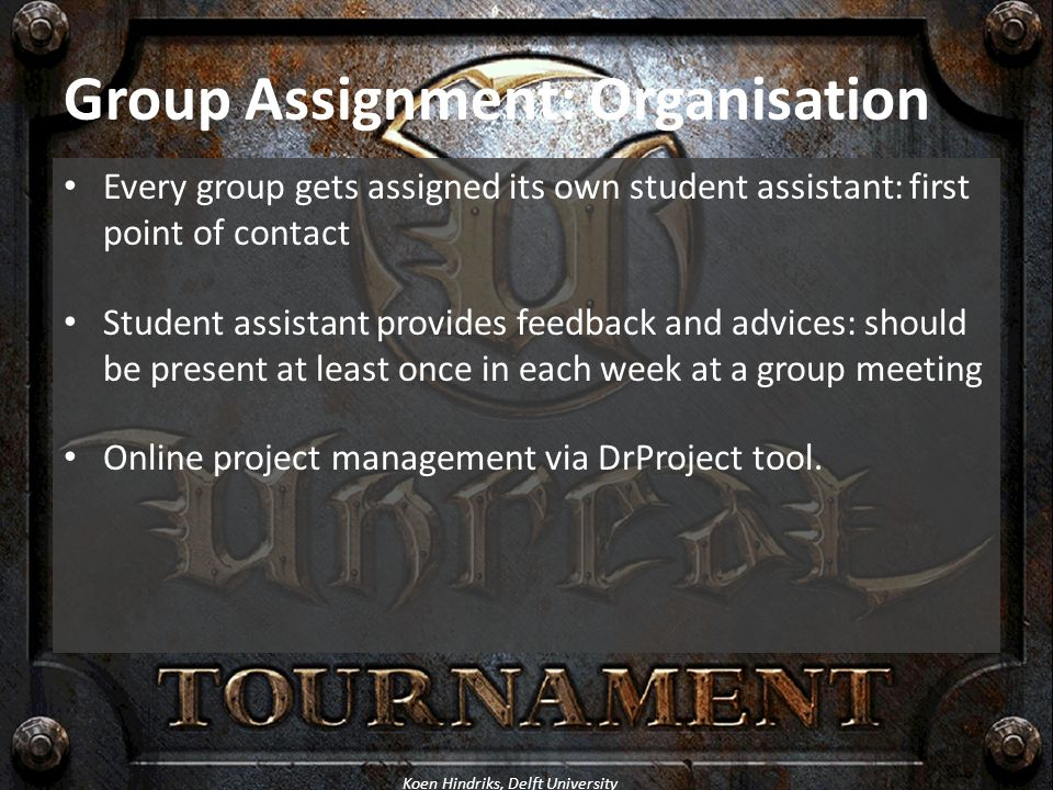 Group Assignment: Organisation