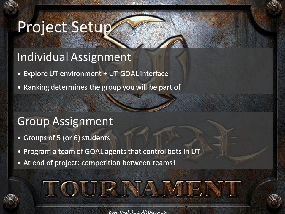Project Setup Individual Assignment Group Assignment