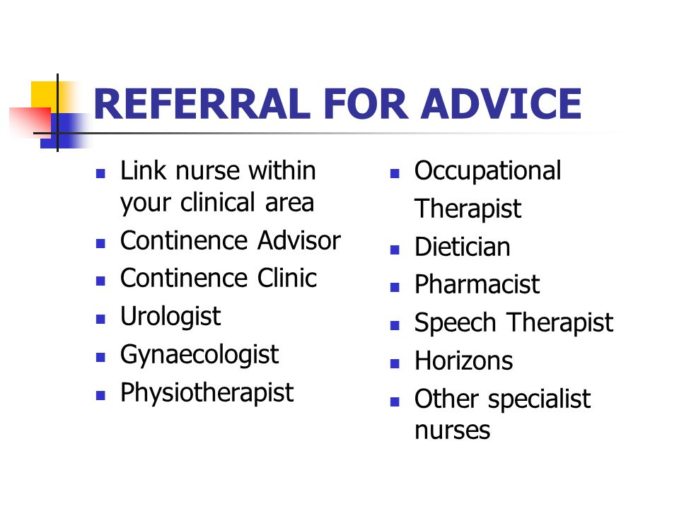 REFERRAL FOR ADVICE Link nurse within your clinical area