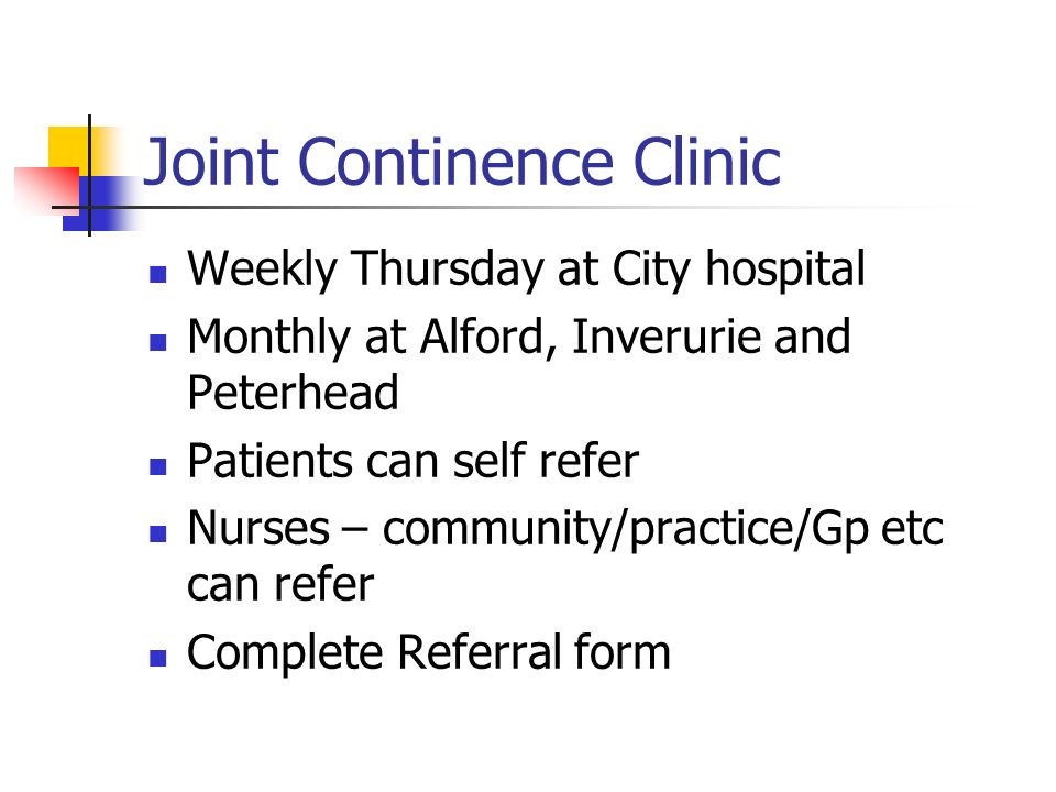 Joint Continence Clinic