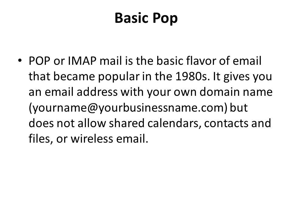 Basic Pop