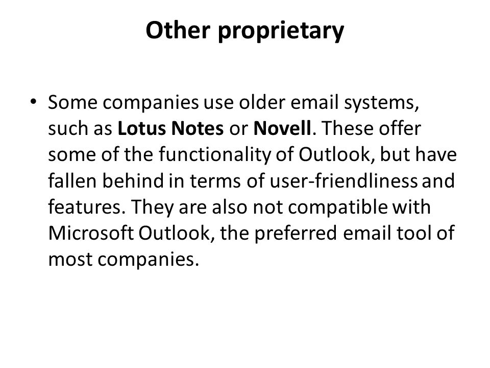 Other proprietary