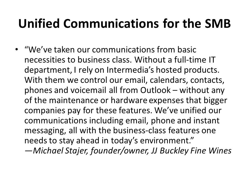 Unified Communications for the SMB
