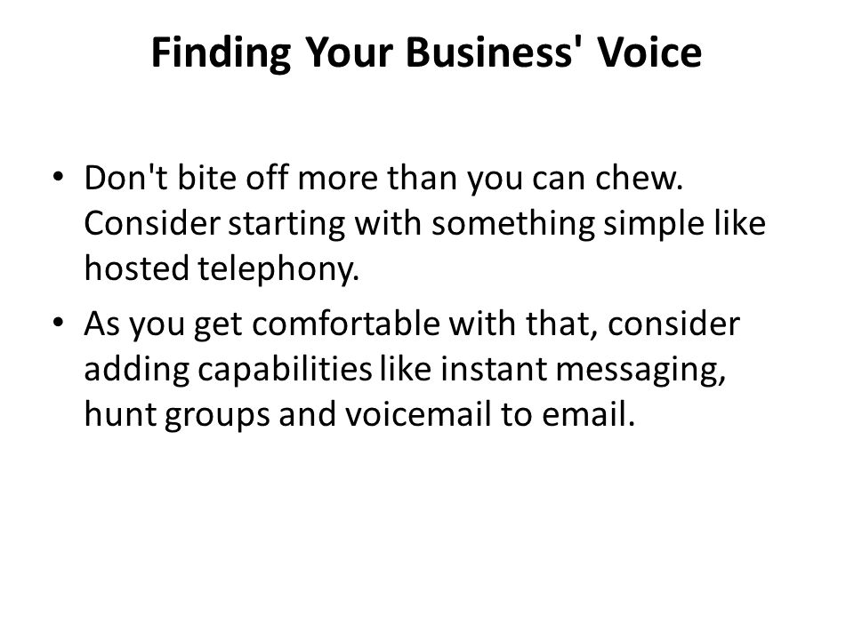 Finding Your Business Voice