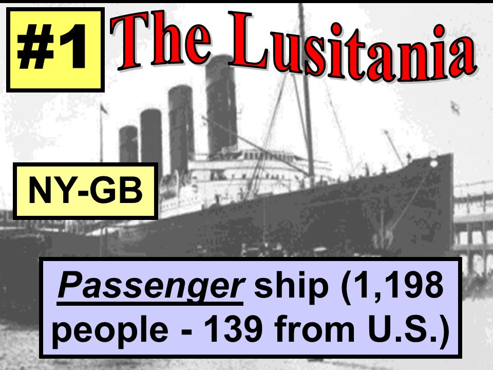 Passenger ship (1,198 people from U.S.)
