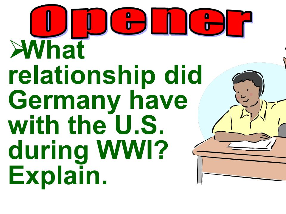 What relationship did Germany have with the U.S. during WWI Explain.