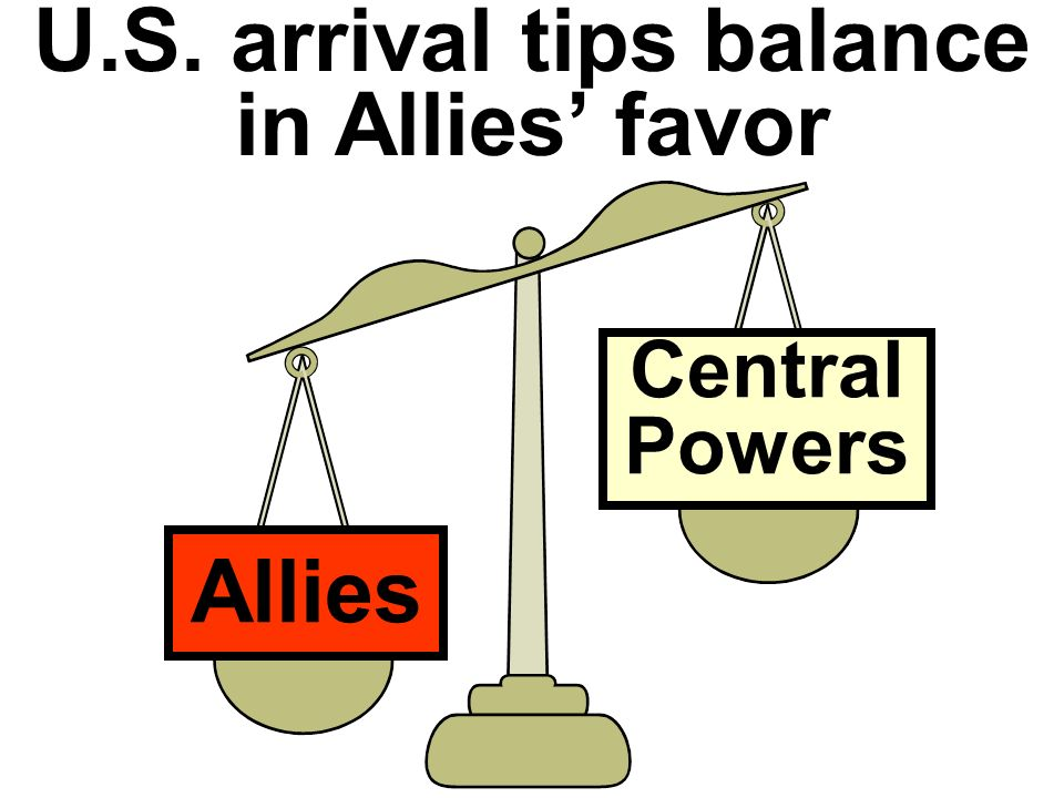 U.S. arrival tips balance in Allies' favor