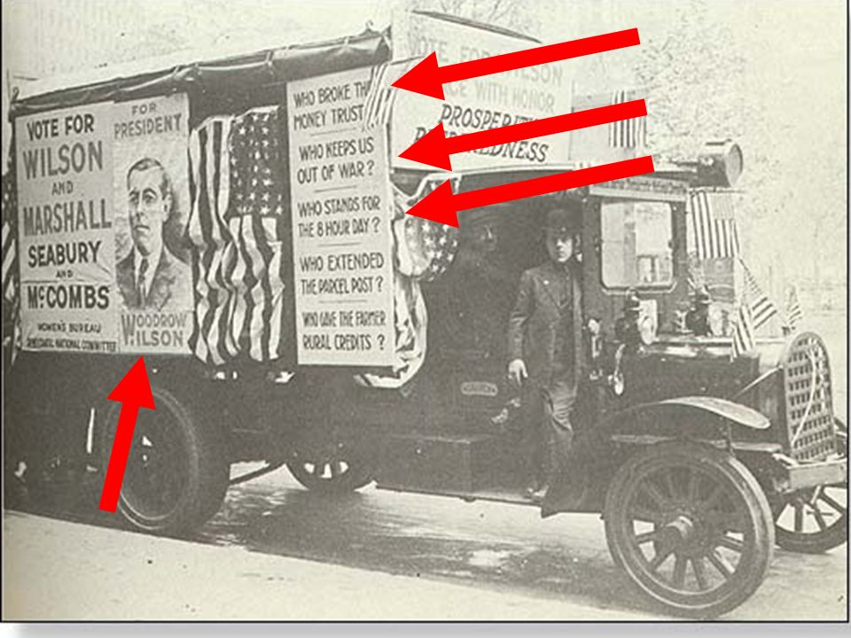 What was Wilson's successful campaign slogan in the Election of 1914